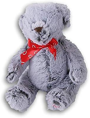 Stuffed Animals Soft Gray Plush Teddy Bear 9 Inches Tall