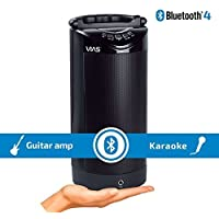Vias CYLNDR battery powered Bluetooth Wireless Speaker with microphone / instrument input and echo effect – Karaoke Singing – Guitar practice amp – personal PA