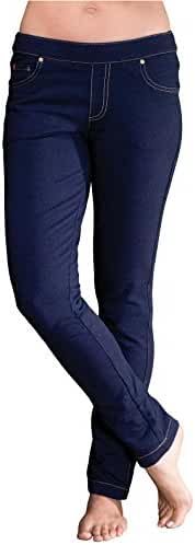 PajamaJeans - Petite Skinny Indigo Blue Stretch Knit Denim Jeans for Women G04759