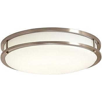 Ev1410led bn ceiling light led flushmount brushed nickel with ev1410led bn ceiling light led flushmount brushed nickel with white lens aloadofball Choice Image