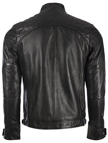 44t9 En De Noir Pour Veritable Design Un Hommes Aviatrix Veste D'épaule Avec Cuir Mode w477Utq