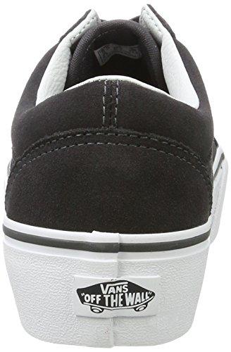 Furgonetas Plataforma De Damas Skool Viejo Zapatos Grises Correr (asfalto / Verdadera Whitesuede) Obtener nuevos Compra en línea barata Estilo de la moda de envío gratis 3dm5XCX