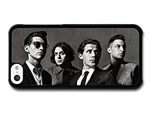 MMZ DIY PHONE CASEAMAF ? Accessories Arctic Monkeys Rock Band Black & White Portrait case for iphone 5/5s