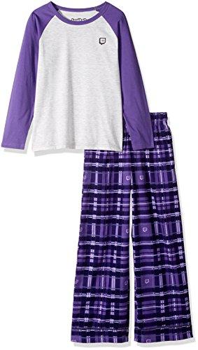 Twitch Glitch Plaid Kid's Sleep Set (YM, Purple)