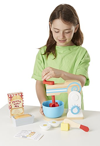 melissa and doug wooden kitchen accessory set amp doug wooden make a cake mixer set 11 pcs 9896