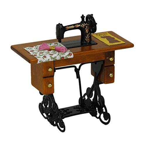 Amazon.es: Generic - Máquina de coser miniatura de la vendimia con el paño para la escala 1/12 dollhouse decoration: Juguetes y juegos