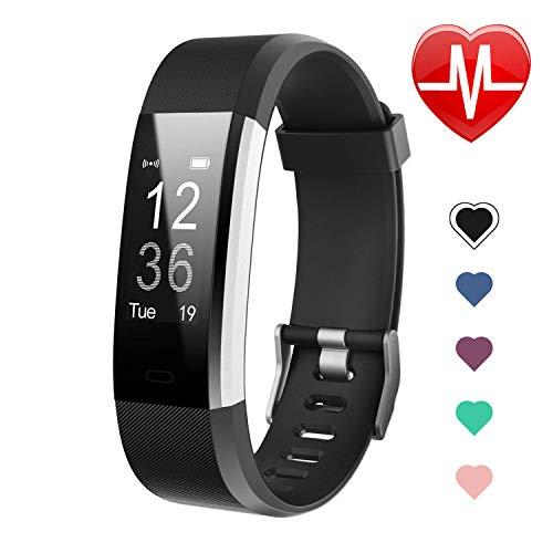 Letsfit Fitness Tracker HR, Activity Tracker Watch with Heart Rate Monitor, IP67 Water Resistant Smart Bracelet with Calorie Counter Pedometer Watch for Kids Women Men ()