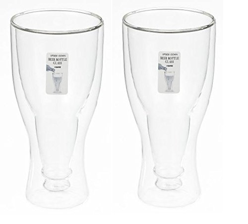 Ganz Upside Down Beer Bottle Glass (2)