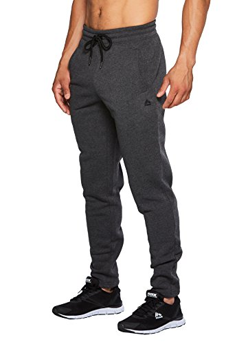 RBX Active Men's Fleece Tapered Jogger with Back Pocket Charcoal Heather S (Rbx Active Womens Fleece Cuffed Jogger Sweatpants)