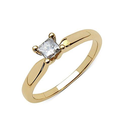Goldancé - Bague femme - plaqués or en argent sterling 925/1000 - pierres précieuses: Champagne Diamond env. 0.24ct. - R1696CHD25_SGP