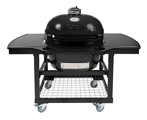 Primo Oval XL 400 Ceramic Smoker Grill On Cart with 1-Piece Island Top ()