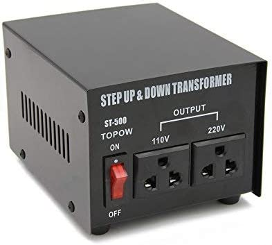 Step Up//Down Power Supply Power Converter with 2Pcs Universal Sockets 110V to 220V Power Transformer/,ST-500VA/ 500W/ Voltage Converter Transformer