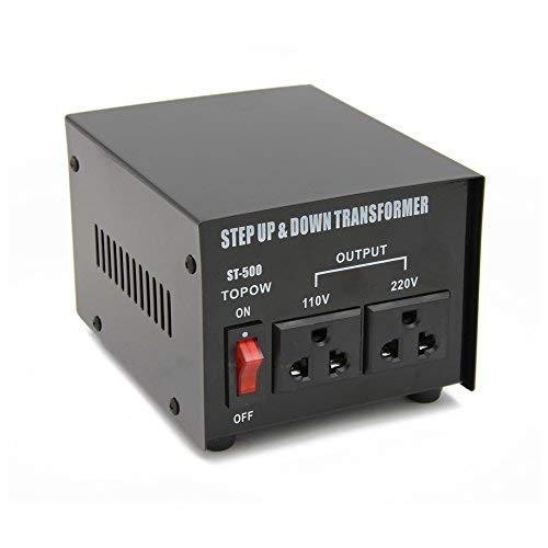 500 Watt Step Up and Down Electrical Power Voltage Converter Transformer Heavy Duty
