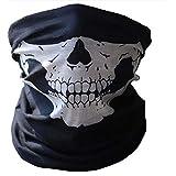 Scarf Skull Half Face Skeleton Motorcycle Scary Horror Party Halloween Mask Gift Skull print Multi-Purpose Scarf/Bandana…