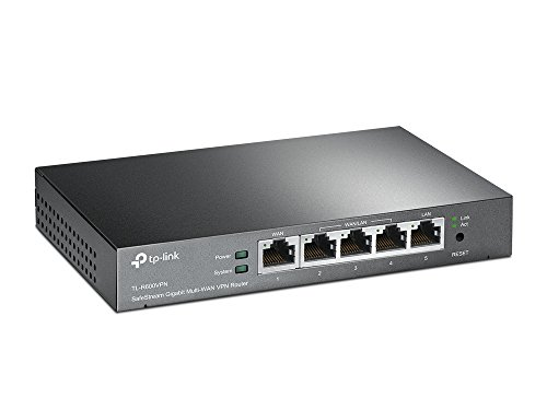 TP-Link SafeStream TL-R600VPN Gigabit Broadband Desktop VPN Router, 680M NAT throughput, 20k Concurrent Sessions, 20 IPSec VPN Tunnels, VLAN, Multi-NAT, 4 WAN Load balance or auto failover