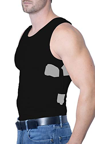 AC UNDERCOVER Concealed Carry Clothing Shirt for Men. Tank Top Concealment Vest. Gun Holster CCW Tactical Undershirt Black