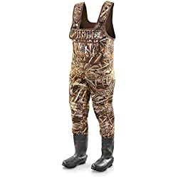 Guide Gear Men's Insulated Hunting Chest Waders, 2,000-gram, Realtree Max-5, 12D (Medium)
