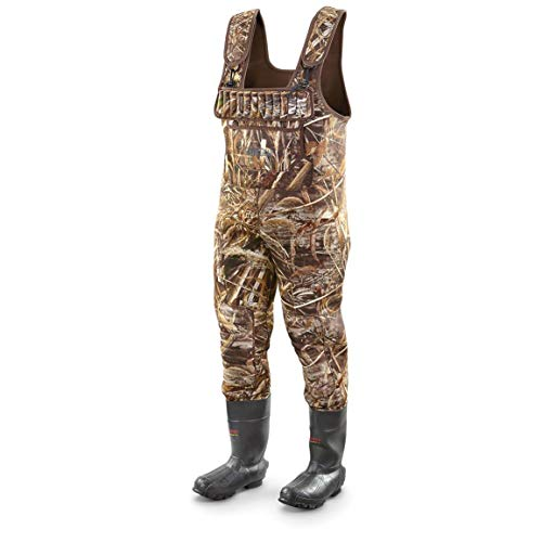Guide Gear Men's Insulated Hunting Chest Waders, 2,000 Gram, Realtree Max-5, 11D (Medium)