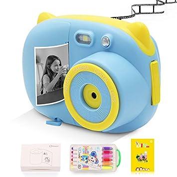 Amazon.com: Cámara de impresión instantánea para niños con ...