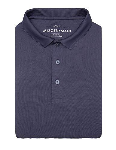 Mizzen + Main Phil Mickelson Navy Golf Polo - Quick Dry Men's Polo - UPF 30+ - XL