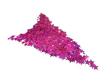 Versandhop 100g Konfetti Sterne Lila Violett Metallic Glitzer