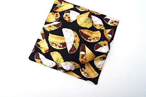 - Fabric Microwave Large Bowl Cozy Taco Pattern