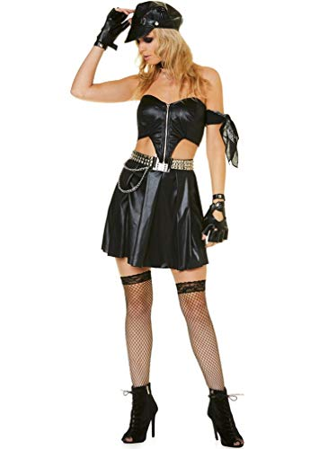 Women's Biker Costume - for Halloween, Costume Party Accessory - Medium