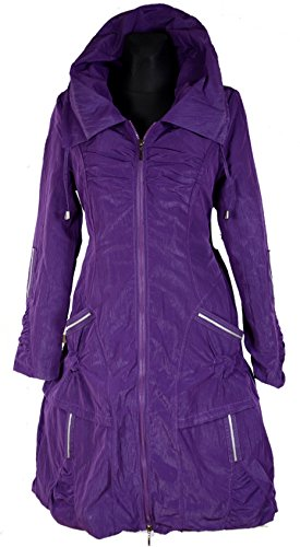 violet Femme lilas 50 Grisodonna Trench Style Manteau XqYnRIt