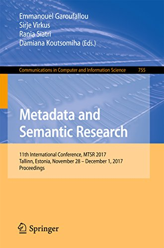 (Metadata and Semantic Research: 11th International Conference, MTSR 2017, Tallinn, Estonia, November 28 - December 1, 2017, Proceedings (Communications in Computer and Information Science Book 755))