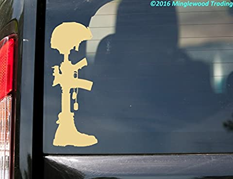 Fallen Soldier Battle Cross custom vinyl decal sticker 8