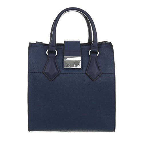 design Ital Bolso Azul De Hombro Para Sintético Oscuro Mujer Al 7CnpRfqw