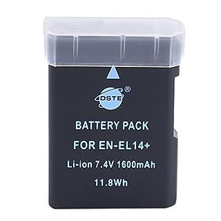 DSTE Replacement for EN-EL14 Li-ion Battery Compatible Nikon D5100 D5200 D5300 D5500 D5600 DF P7000 P7100 P7200 P7700 P7800 D3400 D3500 Digital Camera as EN-EL14A