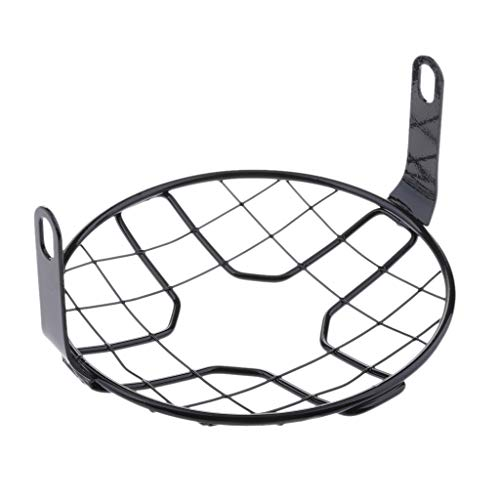 D DOLITY 175mm 7'' Motorcycle Retro Vintage Headlight Lamp Grill Protector Mesh Guard