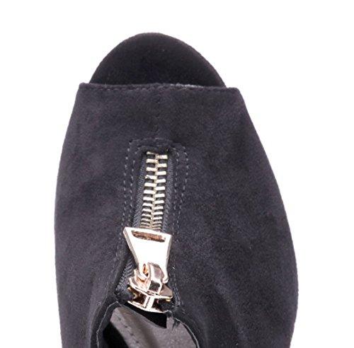 Schuhtempel24 Damen Schuhe Ankle Boots Stiefel Stiefeletten Stiletto 9 cm Schwarz