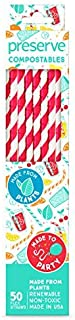 product image for Preserve Straws, Compo, Red - (Case of 12 - 50 ct)
