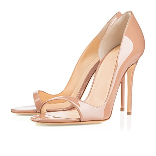 Sandale Hochzeit Schuhe Pumps High Heels ELASHE D'orsay Toe 10CM Pumps Damenschuhe Party Hochzeit Open q6tz1vZaw