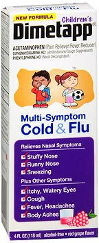 Dimetapp Childrens Multi Symptom Cold   Flu Liquid Red Grape Flavor   4 Oz  Pack Of 2