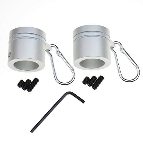 Aluminum Flagpole Rotating Mounting Rings- 2 Pack 360° Anti Wrap Aluminum Alloy Flag Pole Rotating Mounting Rings with Carbiners Never Furl Spinning Flagpole Rings Kit For 1 Inch Diameter Flag Pole