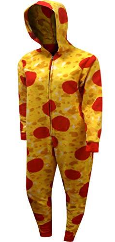 Sweet Treats Women's Pizza Union Suit, Red, MED (Pizza Onesie)