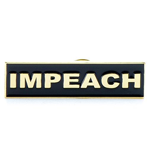 Drumpf.WTF Impeach Anti-Trump, Pro-America Black and Gold-Tone Resistance Enamel Lapel Pin
