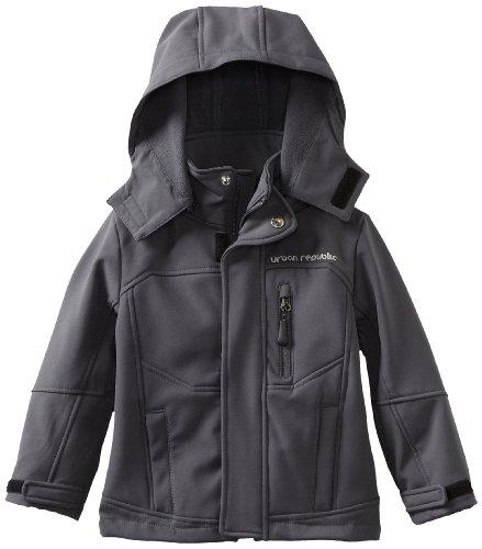 Urban Republic Little Boys' Soft Shell Jacket, Charcoal, 3T