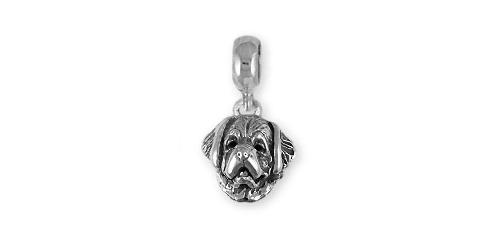 Saint Bernard Jewelry Sterling Silver Handmade Saint Bernard Charm Slide STB1H-PNS
