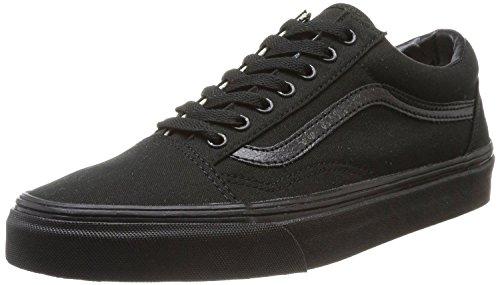 Bestelwagen Oud Skool Zwart Canvas Leer Unisex Sneakers Schoenen
