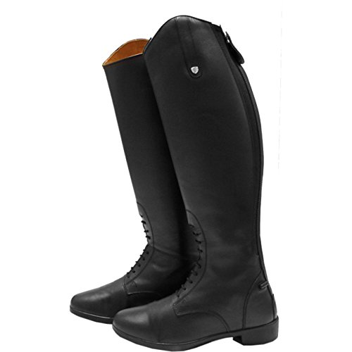 Long Boots Riding Black Horseware Womens Wide Laced tXxXfqP