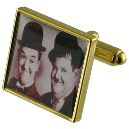 Comédie Laurel Hardy Manchette avec gravé souvenir