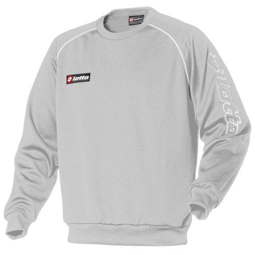 Lotto Mens Football Sports Training Sweatshirt (XL) (Putty Grey/White)