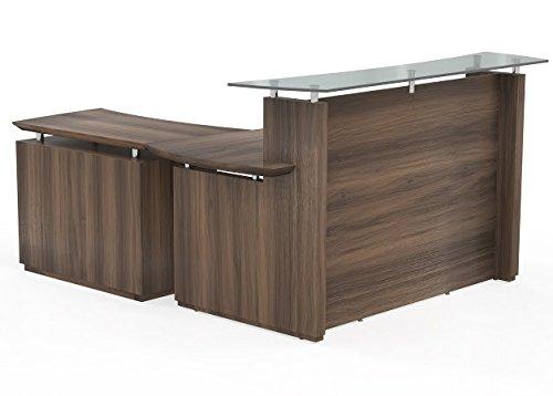 Mayline Reception Desk W/Lateral File Cabinet:72