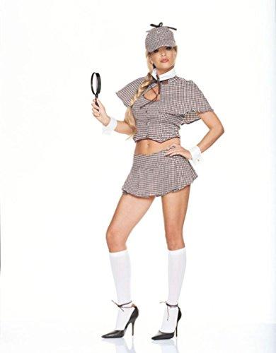 Girl Detective Costume Medium (Detective Girl Adult Costume - Medium)