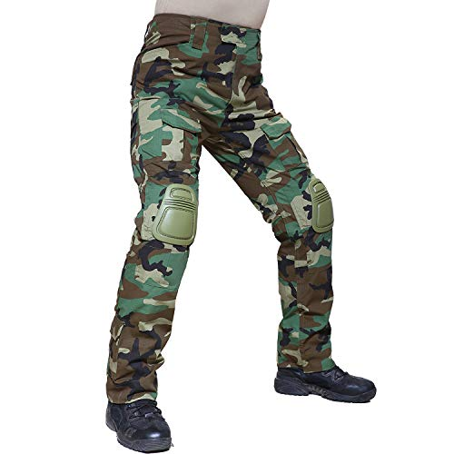 Trouser Uniform (TACVASEN Men's Outdoor Sports Tactical Military Assault Combat Rip-Stop Uniform Cargo Work Pants Trousers Jungle)