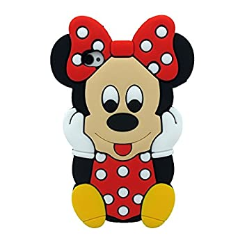ecenter Rojo Minnie Mickey Mouse suave piel funda Cover Carcasa ...